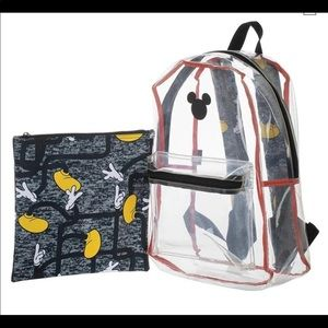 Disney Mickey Mouse backpack clear pouch unisex